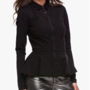 Armani Exchange Peplum Zipper Jacket